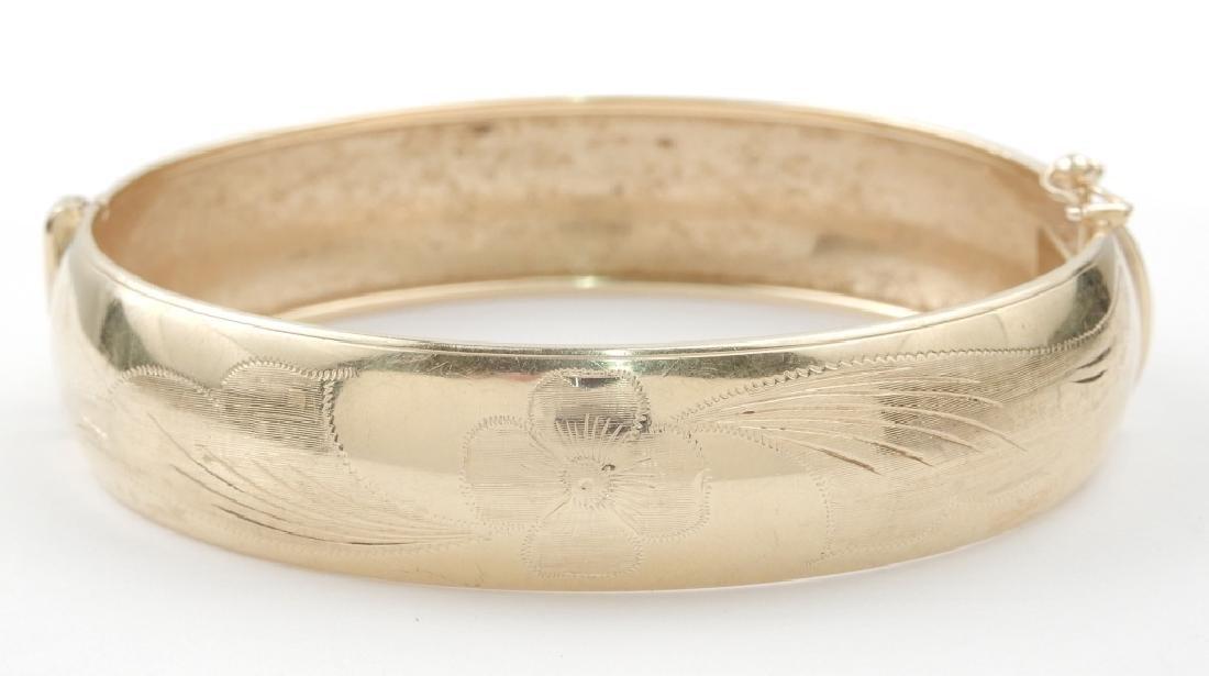 Italian 14k gold bangle bracelet