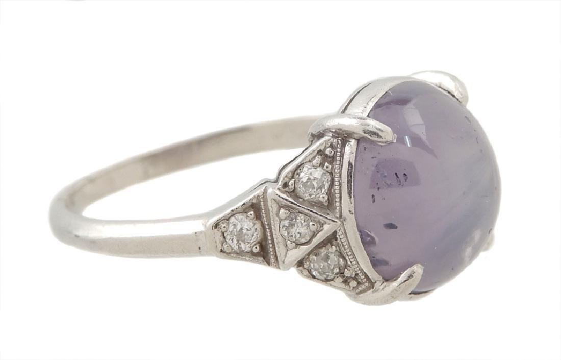 Art Deco platinum lavender star sapphire and diamond - 2