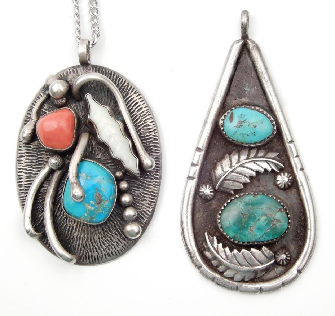 Two Native American Indian pendants