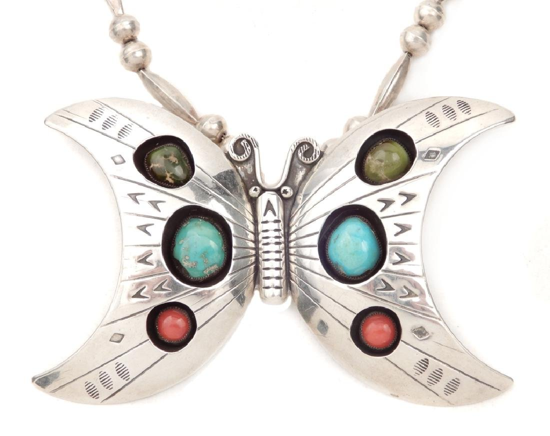 Native American Indian butterfly necklace - 2