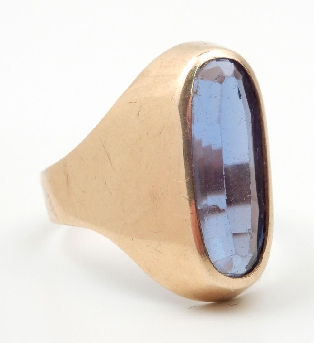 18k gold London blue topaz ring - 2