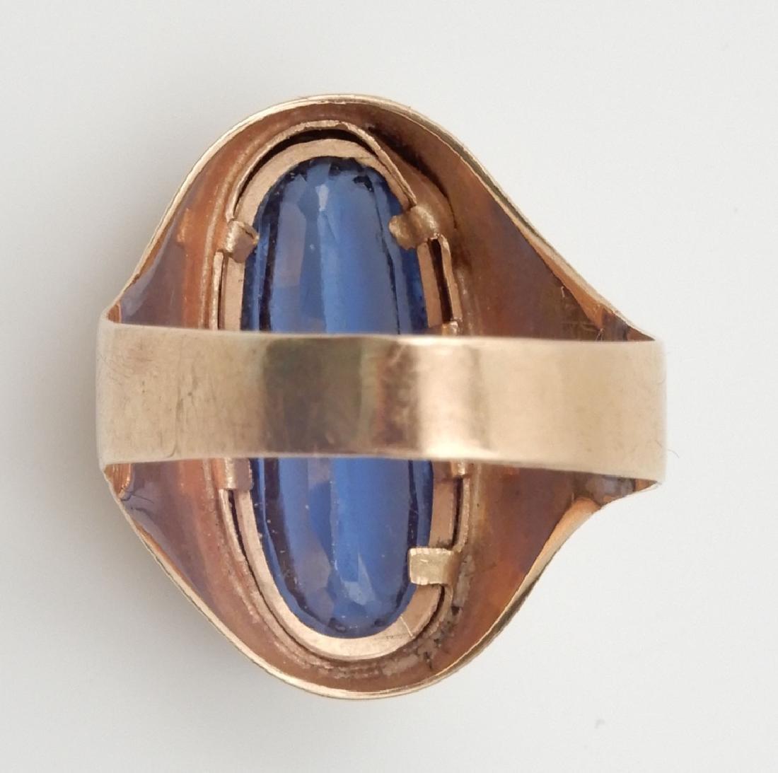 18k gold London blue topaz ring - 3