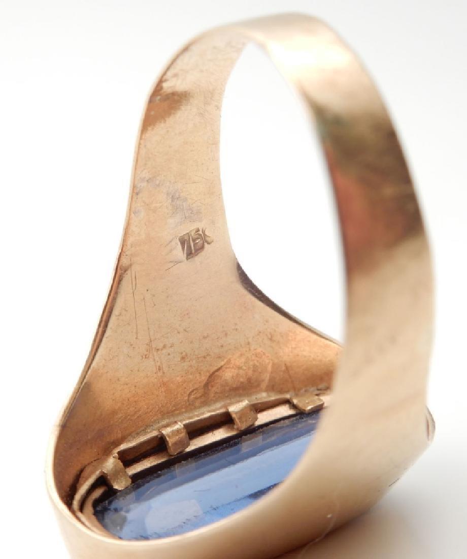 18k gold London blue topaz ring - 4