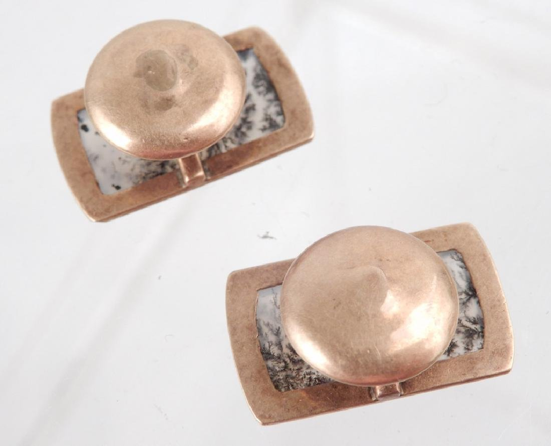 Gold Victorian cufflinks and watch fob - 3