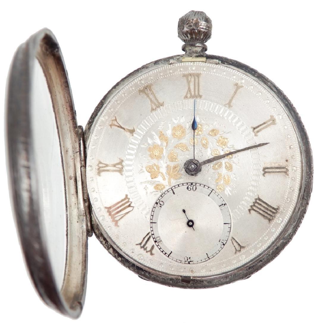 William Thomson sterling silver key wind pocket watch