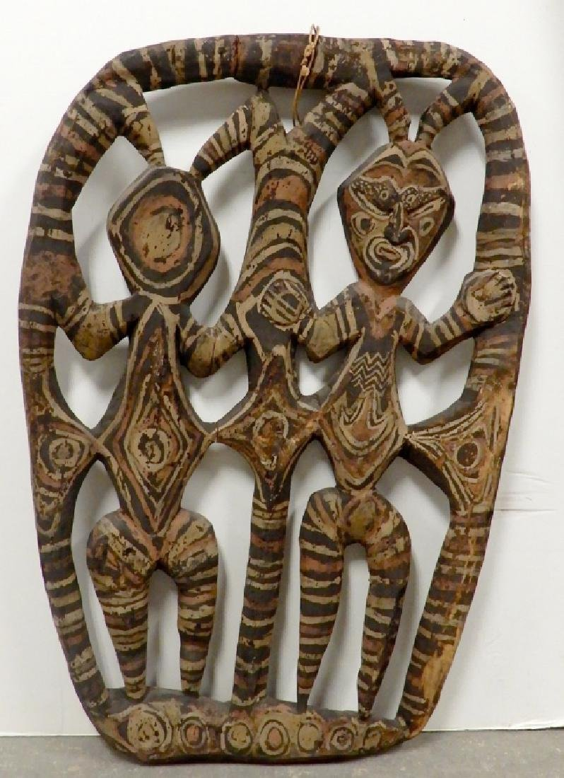 New Guinea pierced carved panel