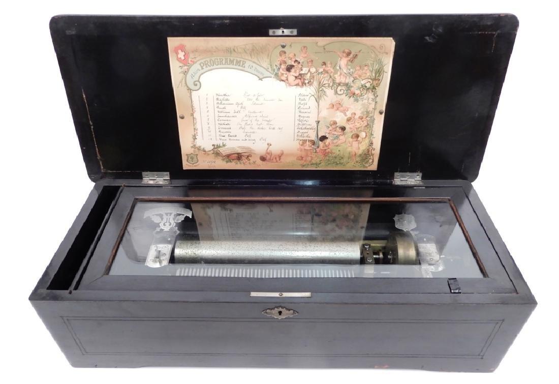 W.J. Dyer & Bro Swiss cased cylinder music box