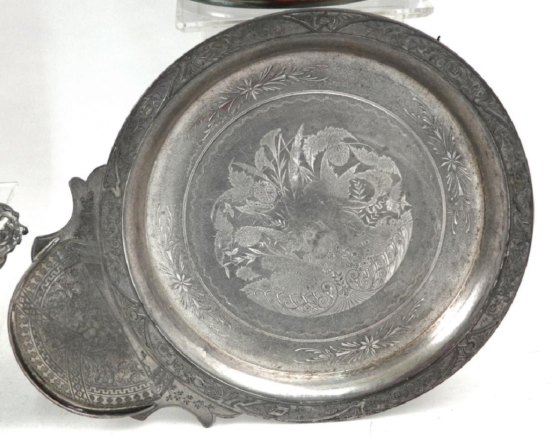 Grouping of Victorian silver plated pieces - 2