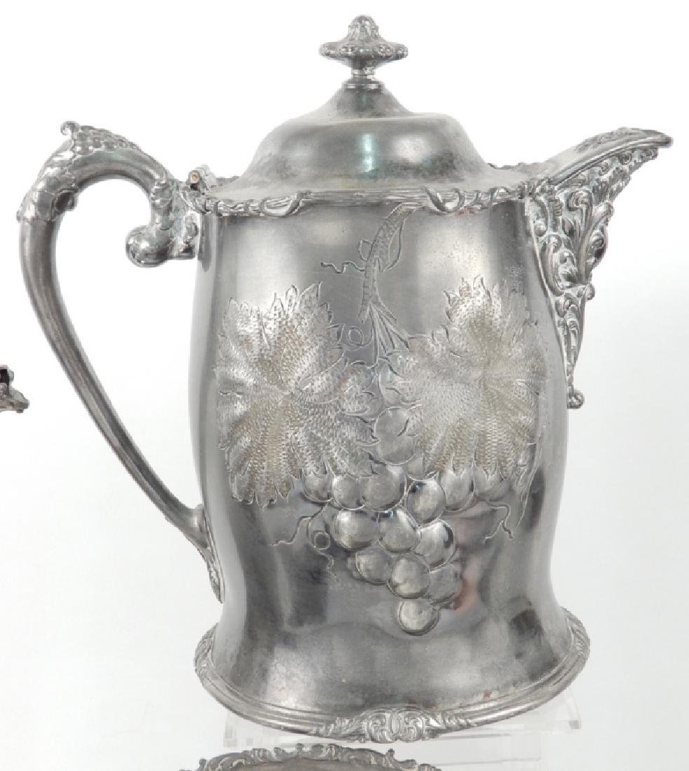 Grouping of Victorian silver plated pieces - 6