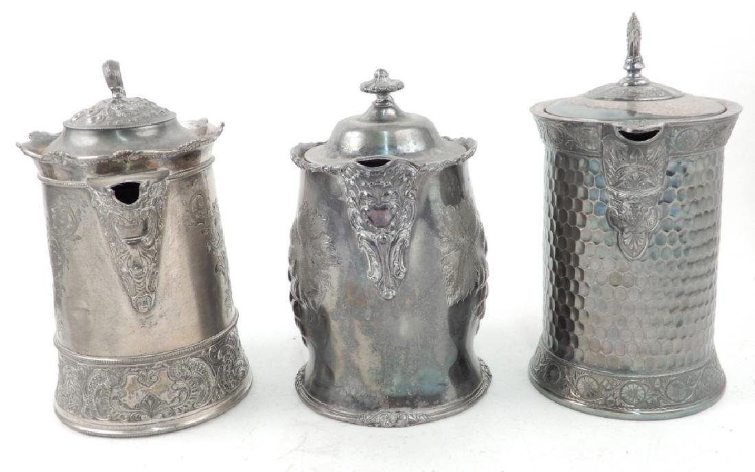 Grouping of Victorian silver plated pieces - 9