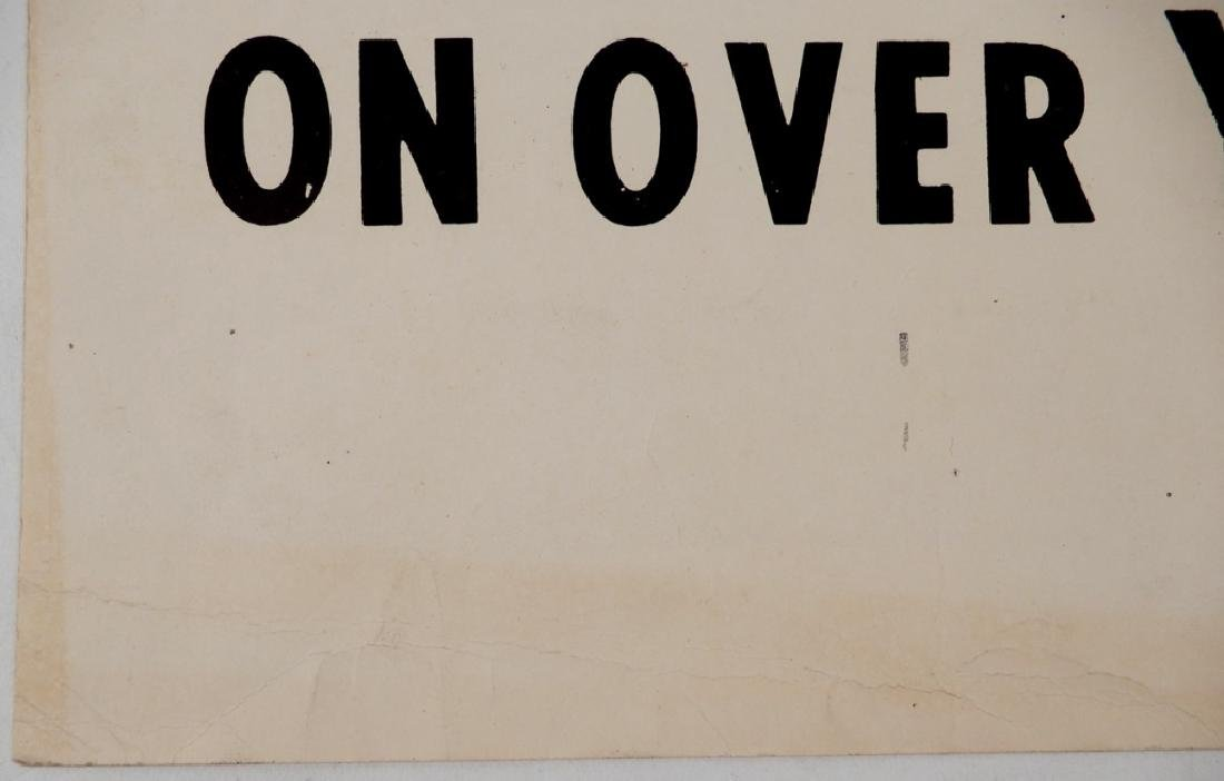 The first Black Panthers Poster, Move On Over Or We'll - 10