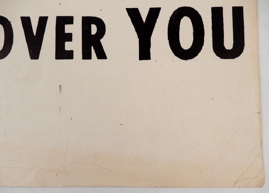 The first Black Panthers Poster, Move On Over Or We'll - 11