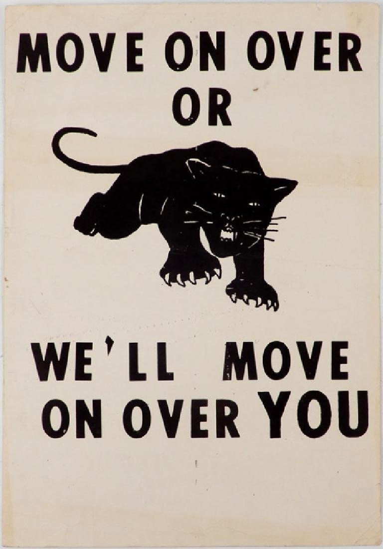 The first Black Panthers Poster, Move On Over Or We'll