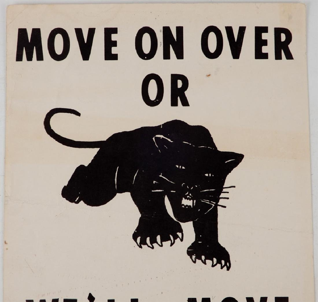 The first Black Panthers Poster, Move On Over Or We'll - 2