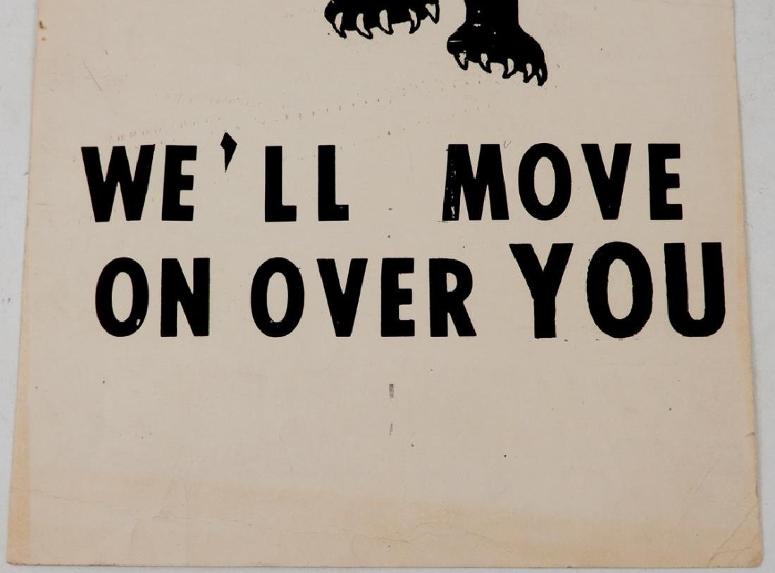 The first Black Panthers Poster, Move On Over Or We'll - 3