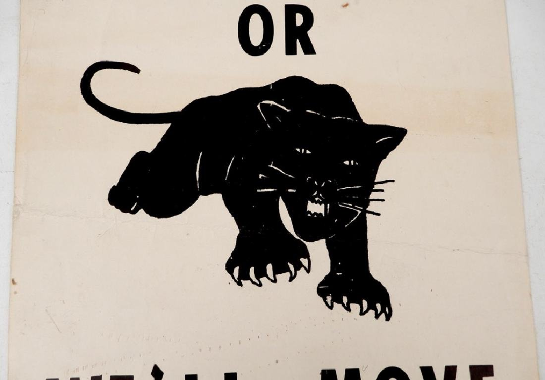 The first Black Panthers Poster, Move On Over Or We'll - 4