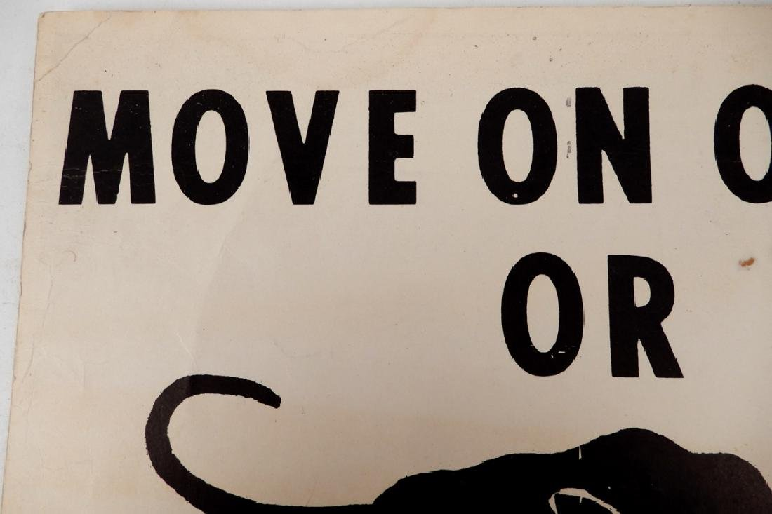 The first Black Panthers Poster, Move On Over Or We'll - 7