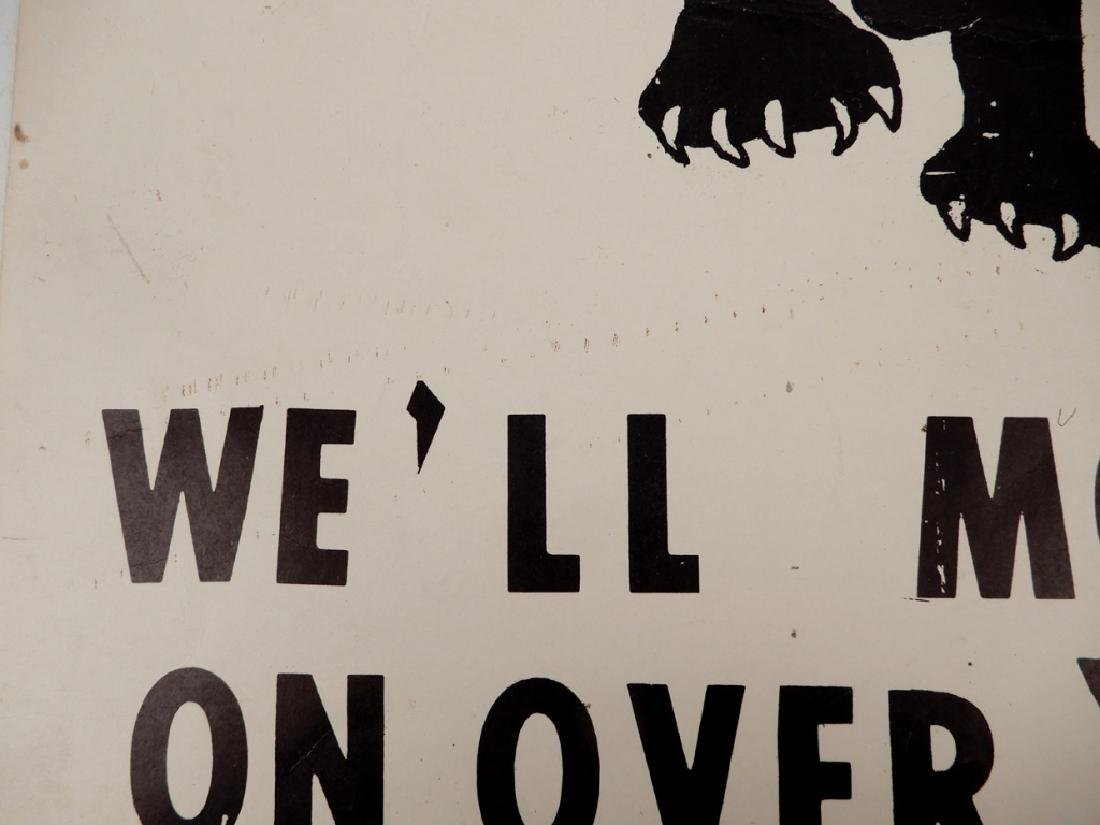 The first Black Panthers Poster, Move On Over Or We'll - 9