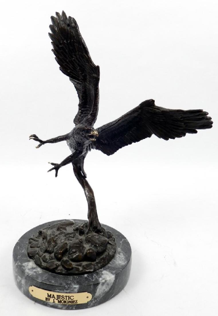 After Jules Moigniez bronze eagle