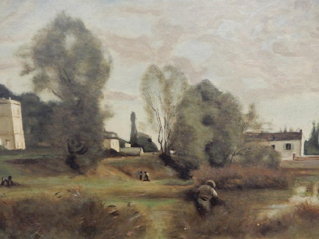 After Jean-Baptiste-Camille Corot oil on board - 2