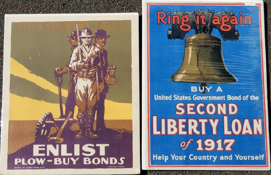 Two WWI lithographic posters on paper