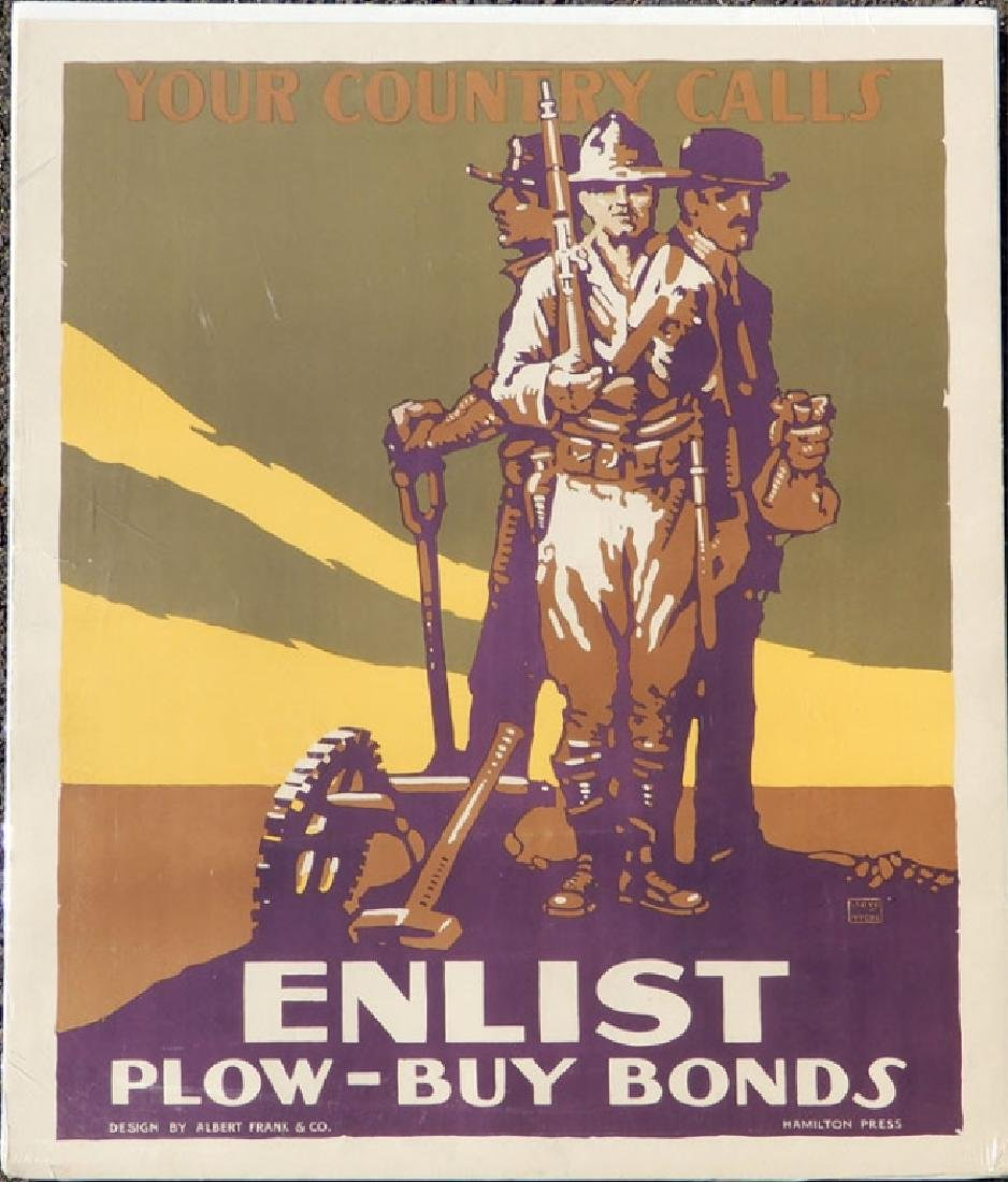 Two WWI lithographic posters on paper - 5