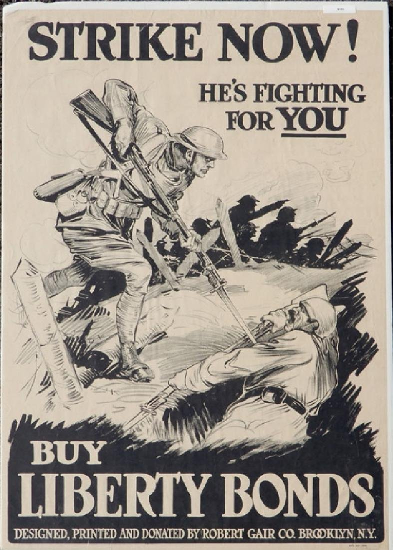 Two WWI lithographic posters on paper - 2