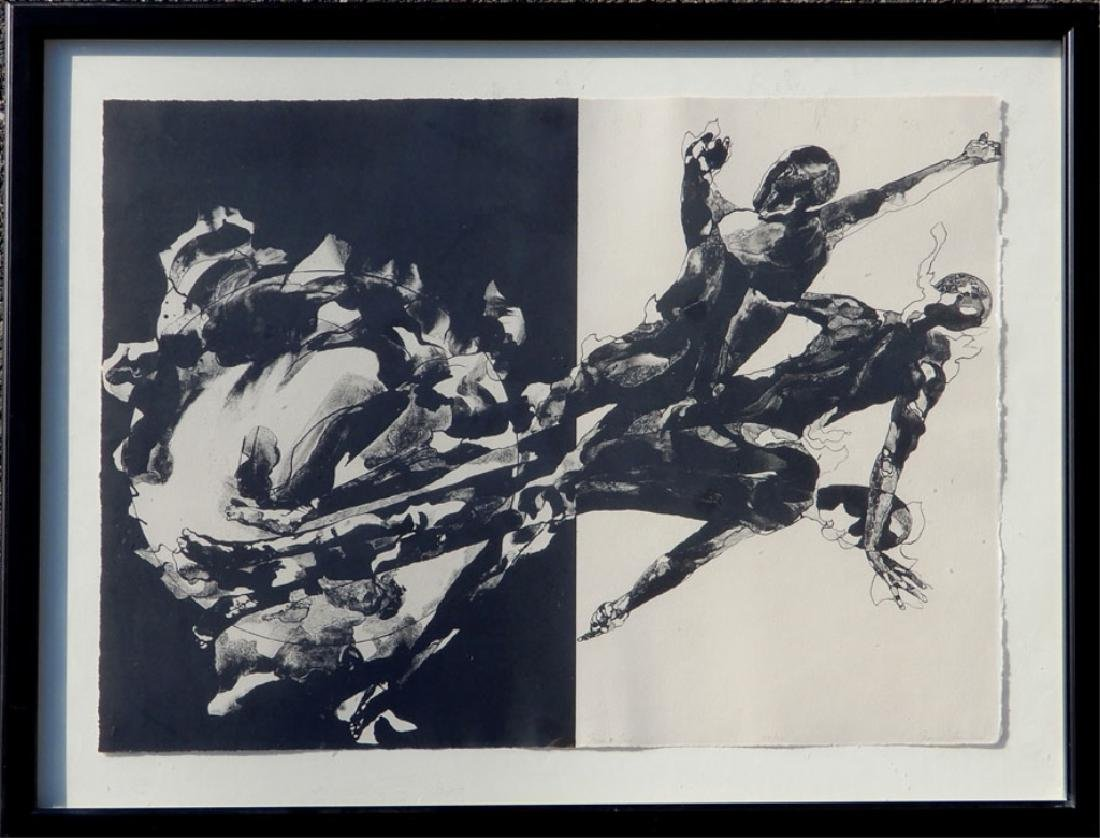 Jacob Landau lithograph on paper