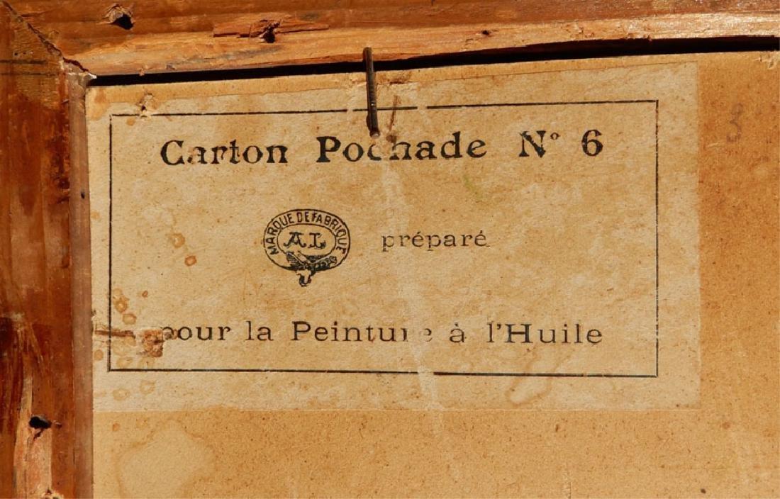 French School oil on board - 6