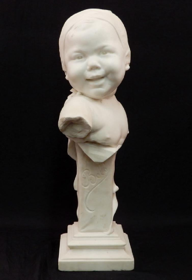 J. Willems marble bust Bebe