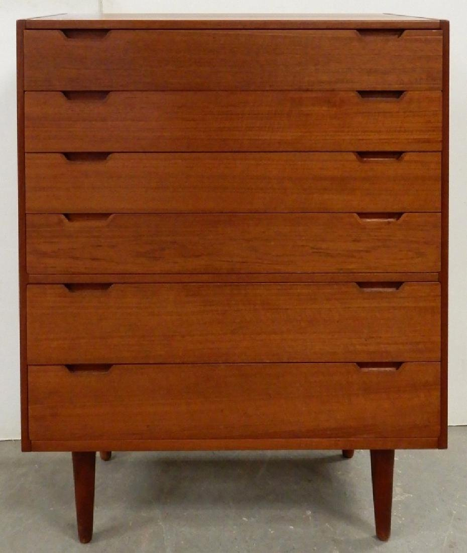 Danish Modern tall chest of drawers