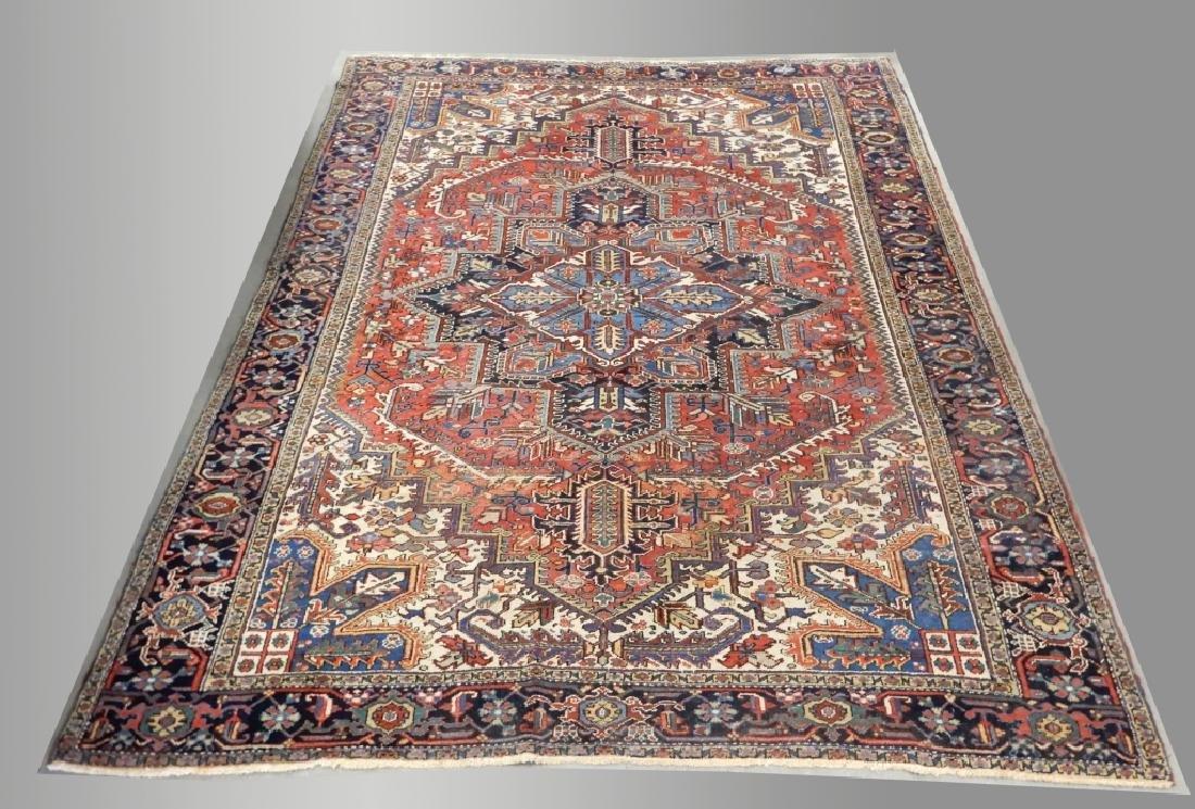 Hand tied Persian Heriz carpet