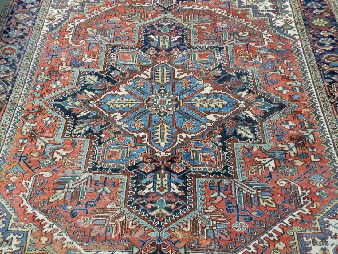 Hand tied Persian Heriz carpet - 2
