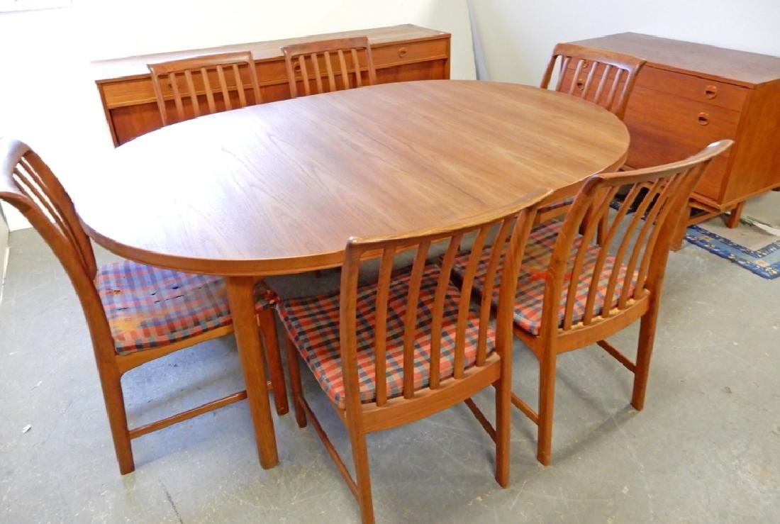 Dux walnut mid C. dining room set