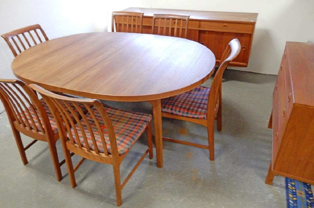 Dux walnut mid C. dining room set - 2