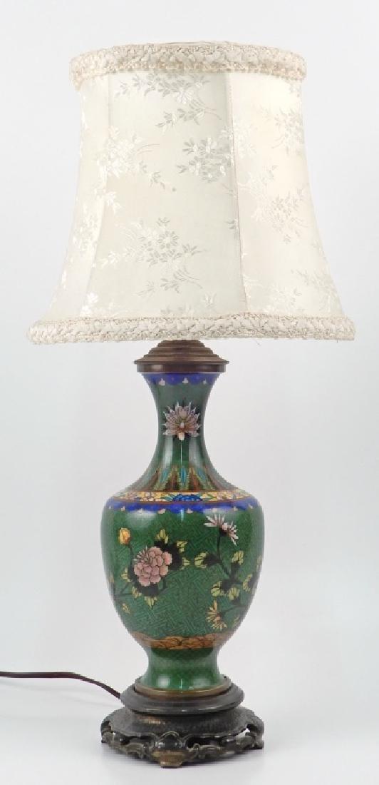 Chinese cloisonné dresser lamp
