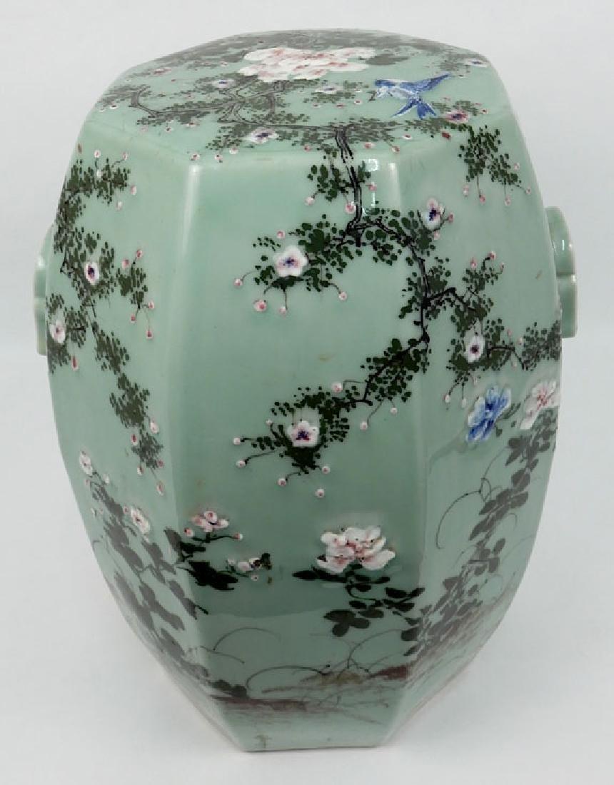 Chinese celadon garden seat - 2
