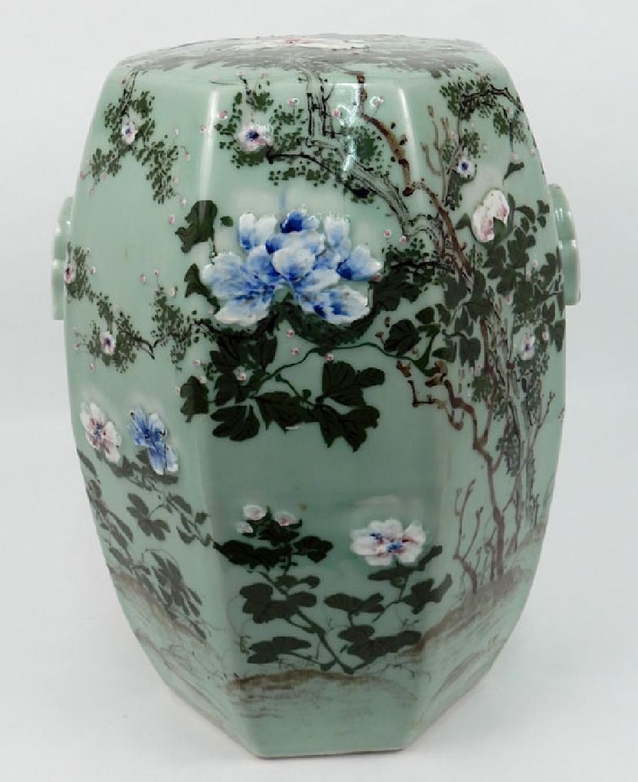 Chinese celadon garden seat - 3