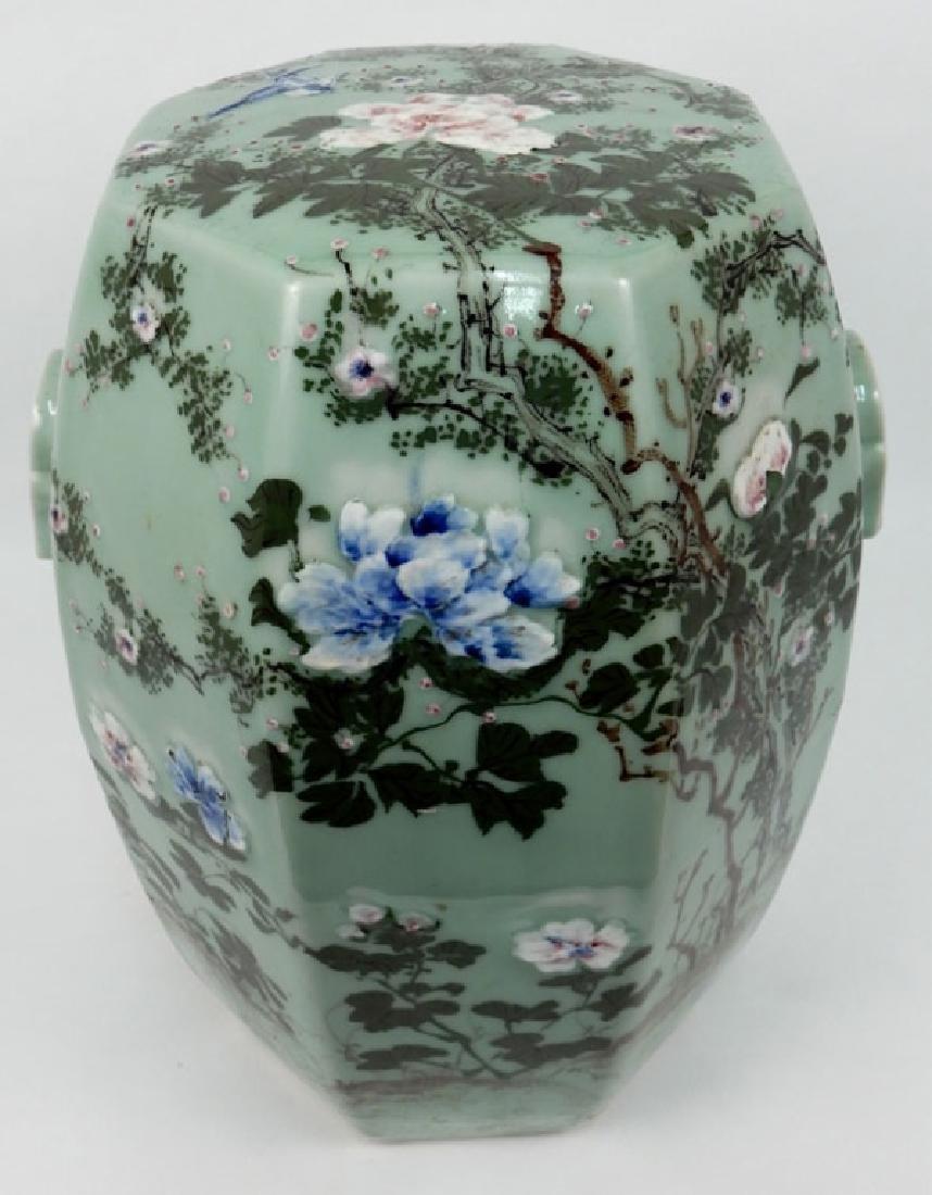 Chinese celadon garden seat - 4