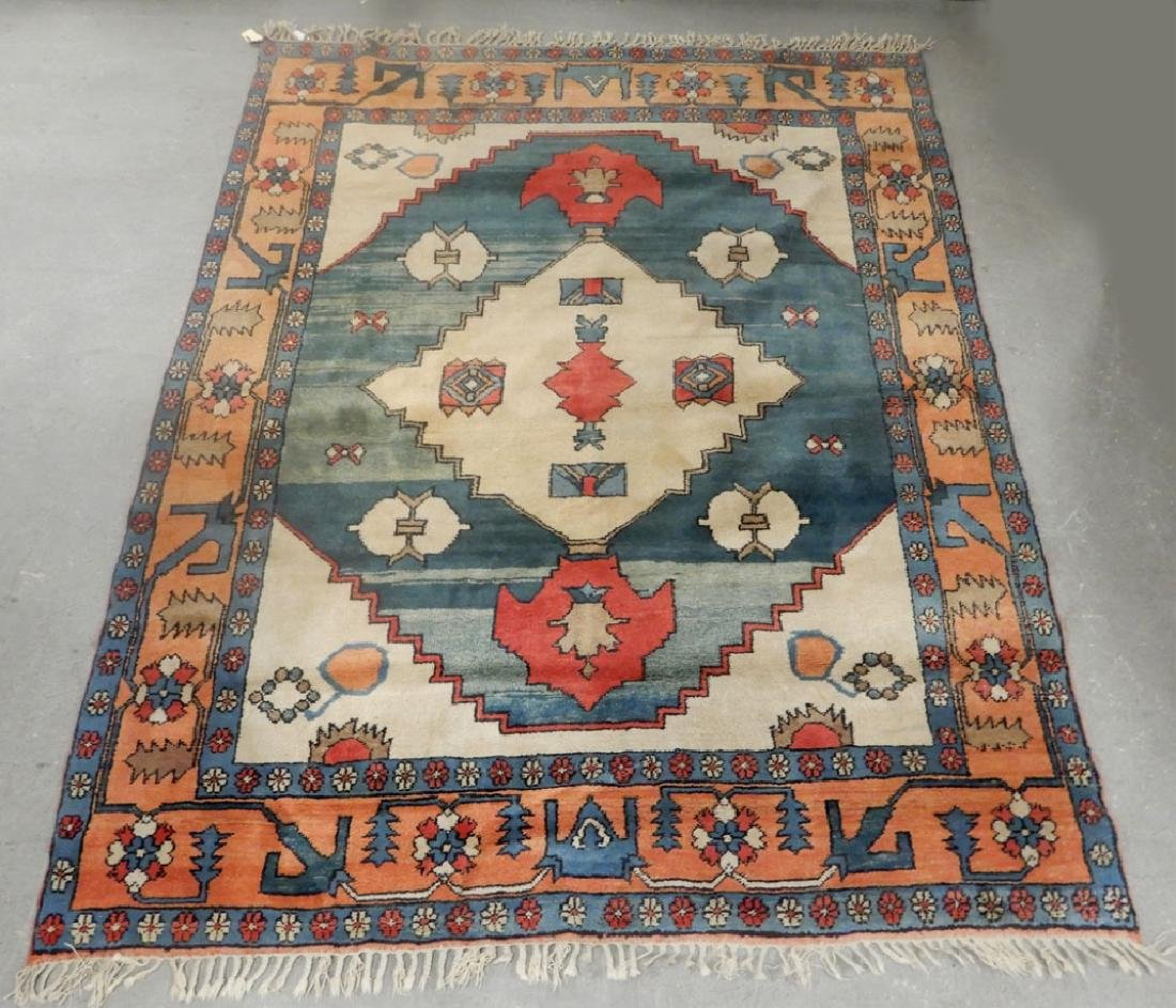 Hand tied rug Turkish Azeri