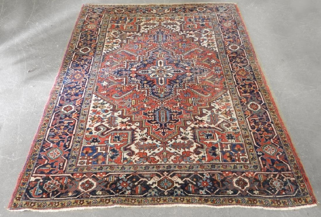 Hand tied Persian Heriz carpet