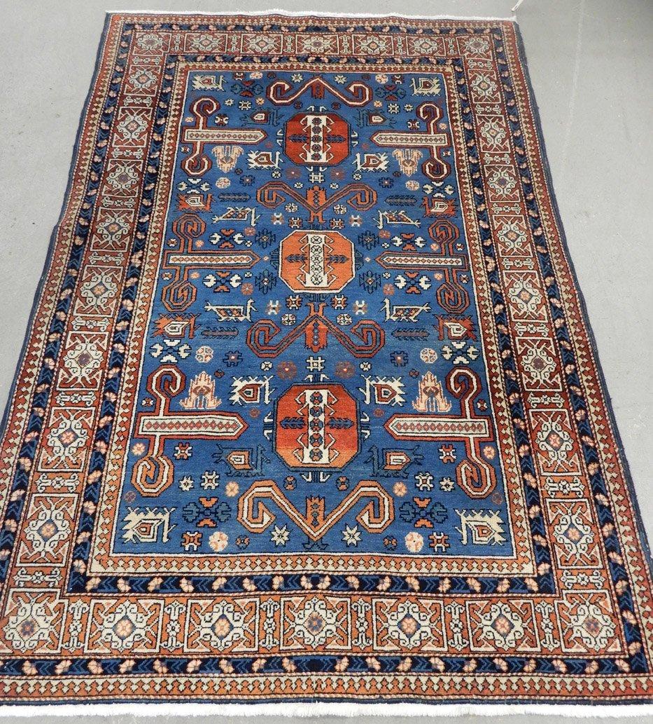 Hand tied rug Caucasian design