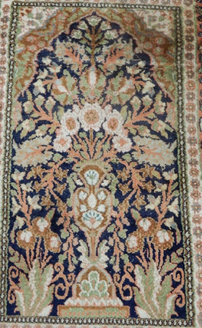 Kashmir silk prayer rug - 2