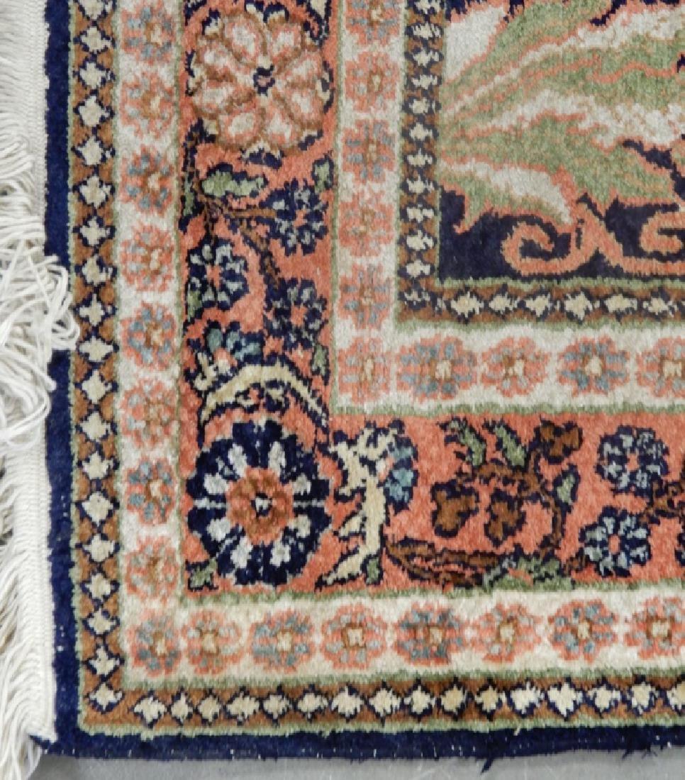Kashmir silk prayer rug - 3