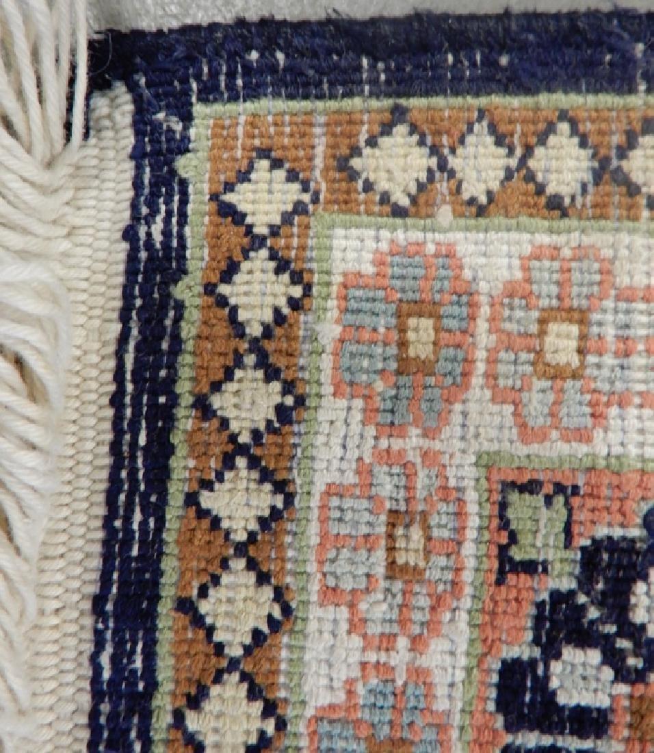 Kashmir silk prayer rug - 4