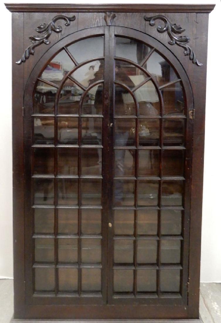 Double glass door bookcase