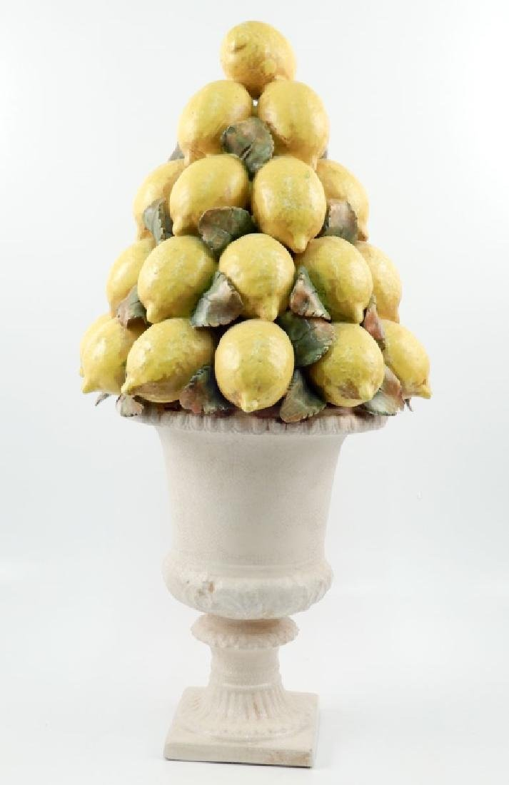 Italian faience mounded lemons centerpiece