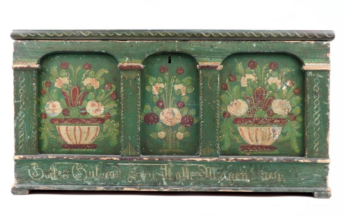 Pennsylvania German painted blanket chest