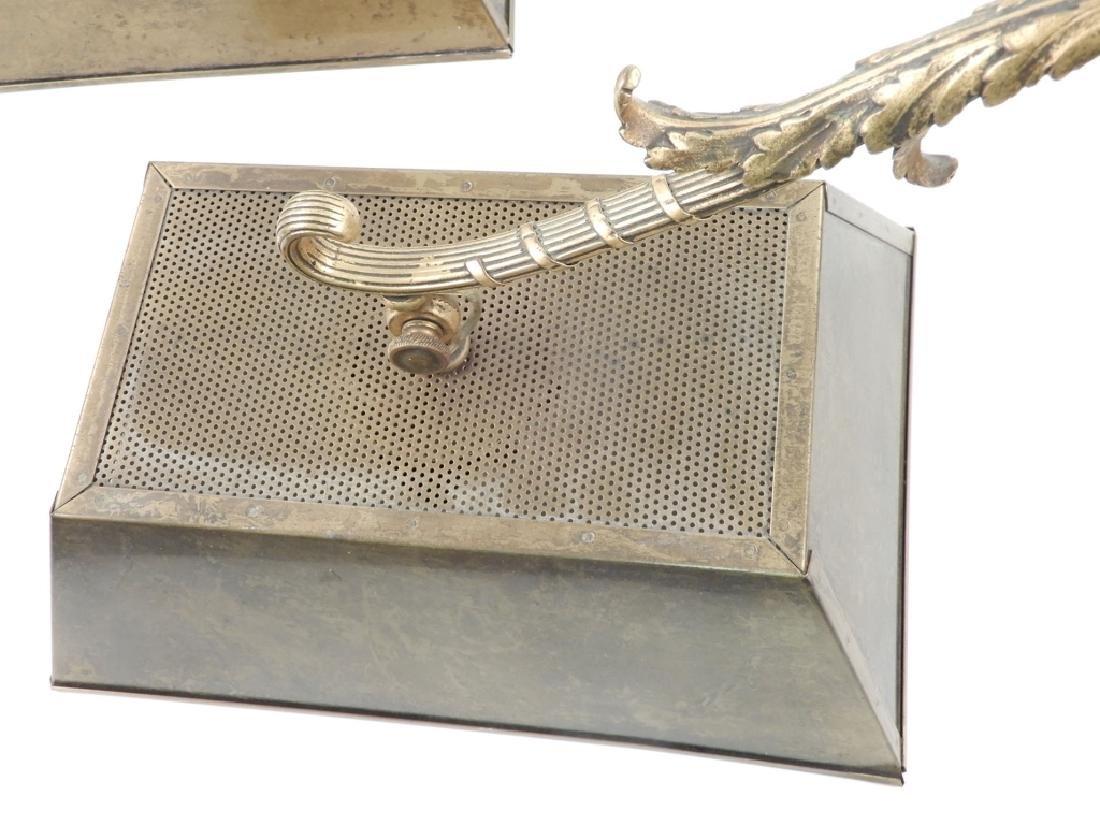 Pair of brass light fixtures - 2
