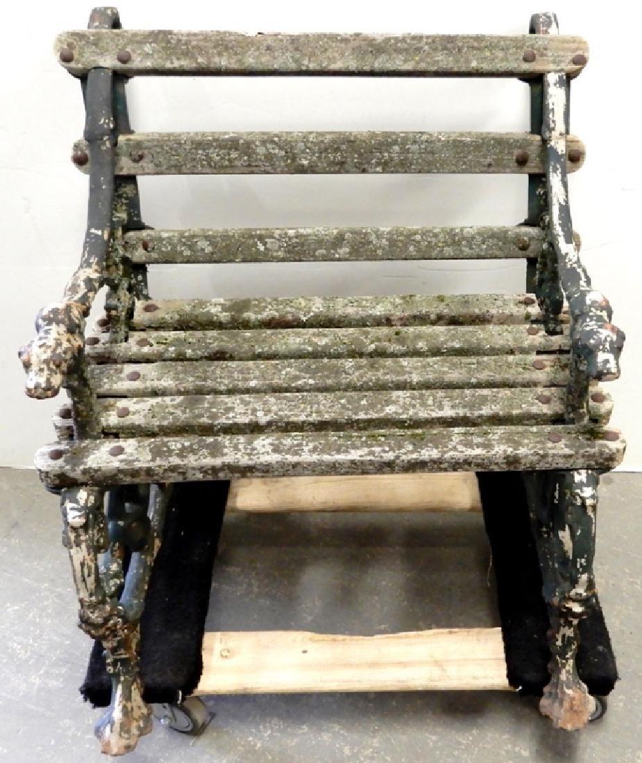 Iron garden bench - 2